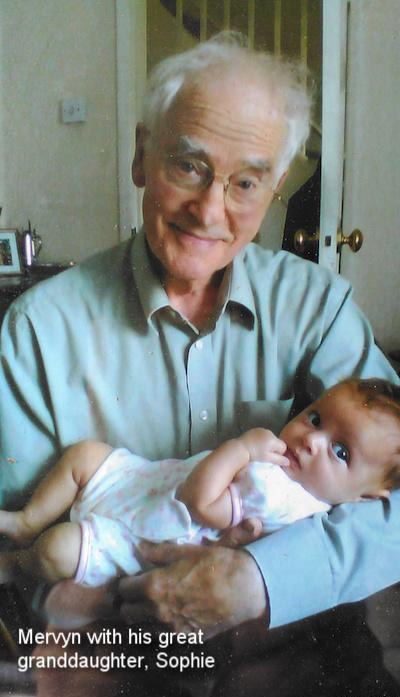 Mervyn with his great granddaughter, Sophie