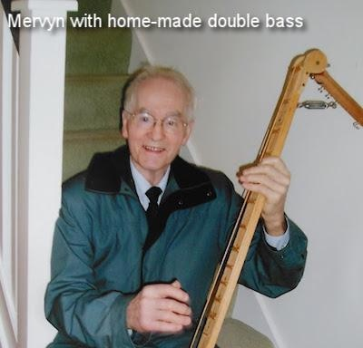 Mervyn with his home-made double bass