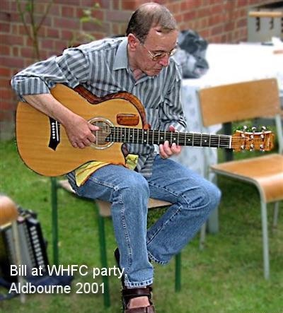 Bill at WHFC party, Aldbourne 2001